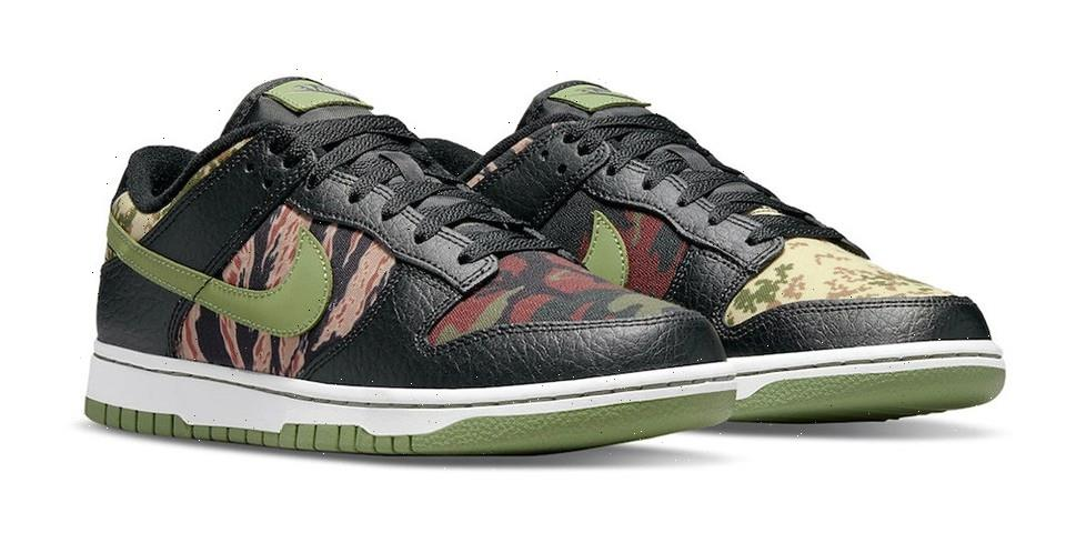 """Take an Official Look at the """"Crazy Camo"""" and """"Multi Camo"""" Nike Dunk Low"""