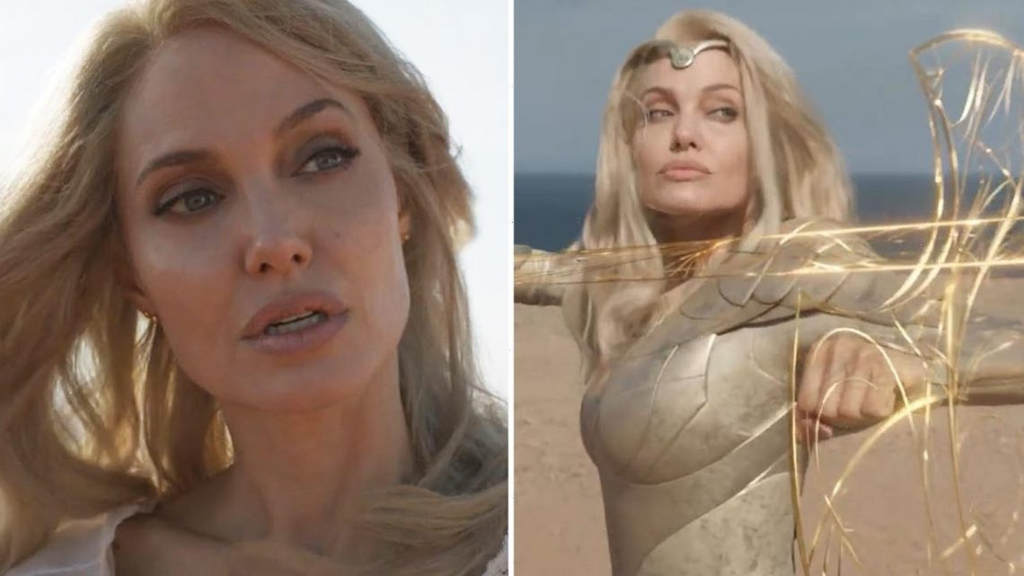 Angelina Jolie shows off dramatic hair transformation in new trailer for Marvel movie Eternals