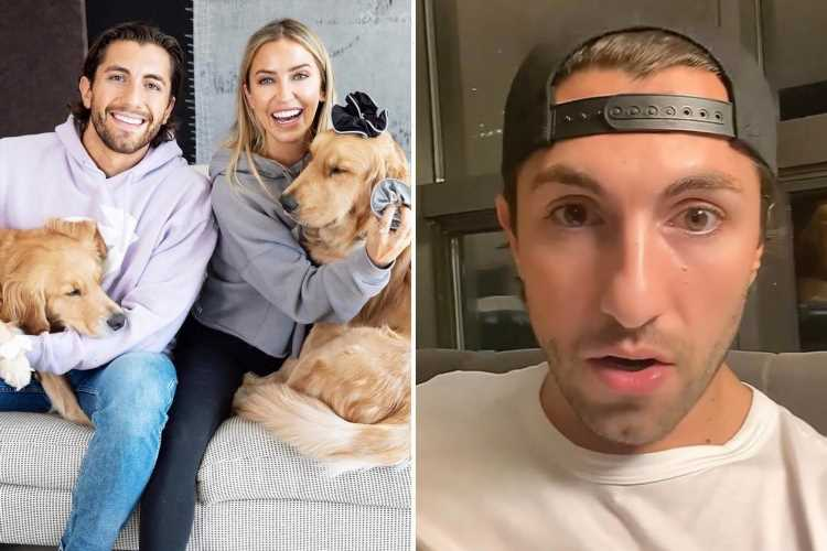 Bachelorette Kaitlyn Bristowe's fiance Jason Tartick and their dog get hit by a CAR during walk in scary accident