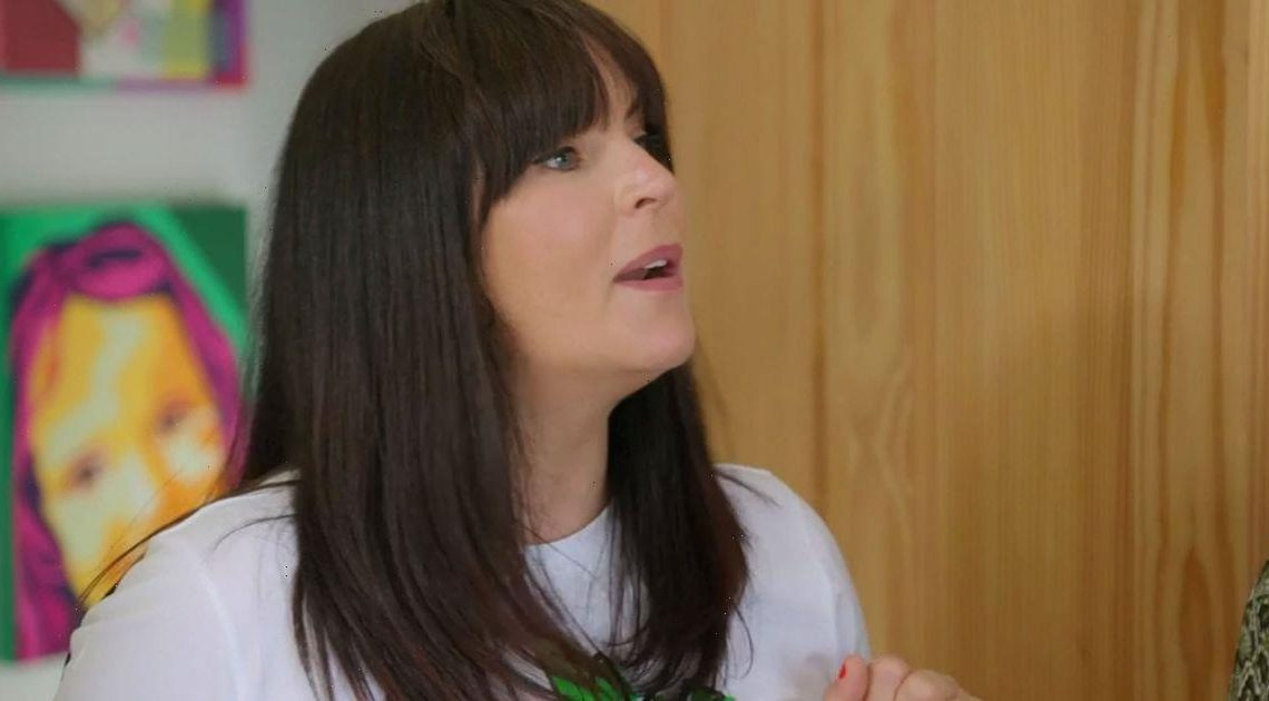 Changing Rooms fans beg Anna Richardson to put bum away as she flashes tattoo