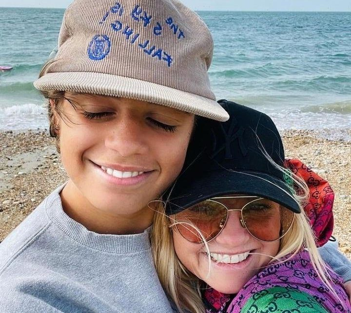 Emma Bunton shares sweet photo with son Beau, 14 – and the teen now towers over her