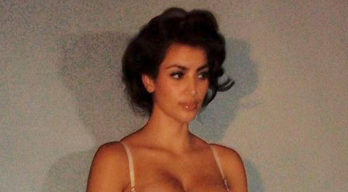Kim Kardashian parades curves in silk lingerie in throwback to first photoshoot