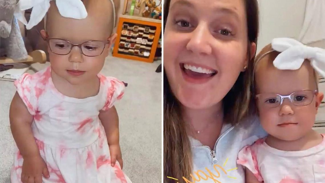 Little People's Tori Roloff shares videos of daughter Lilah, 1, in new glasses and giant bow after mending family feud