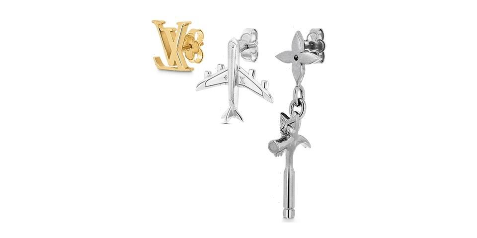 """Louis Vuitton Drops a Trio of """"LV Comics Earrings"""" That Are Inspired by Abloh's Core Themes"""