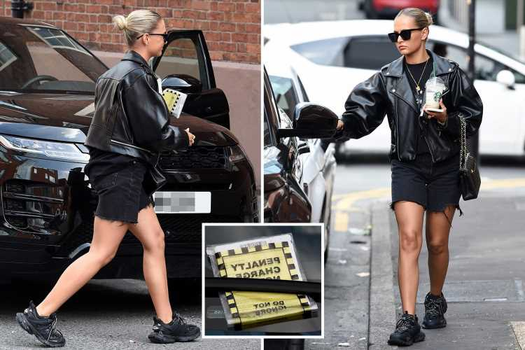 Love Island's Molly-Mae Hague looks VERY unimpressed as she finds parking ticket slapped on her Range Rover
