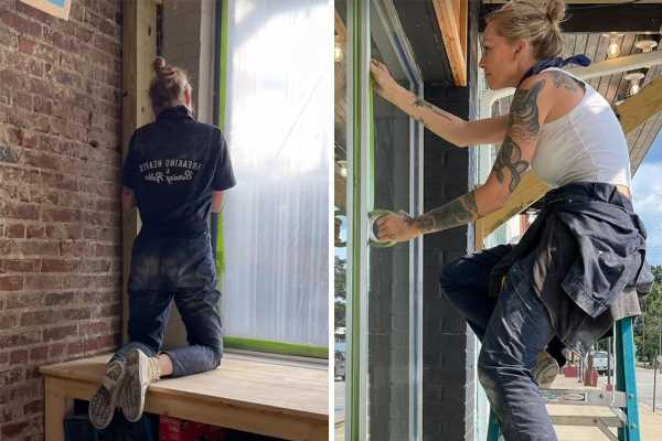 American Pickers star Mike Wolfe's girlfriend Leticia Cline continues work on building & admits she's 'hitting the road'