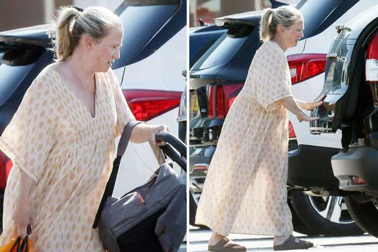 EastEnders' Kellie Bright, 45, spotted with her 'miracle' newborn baby for the first time