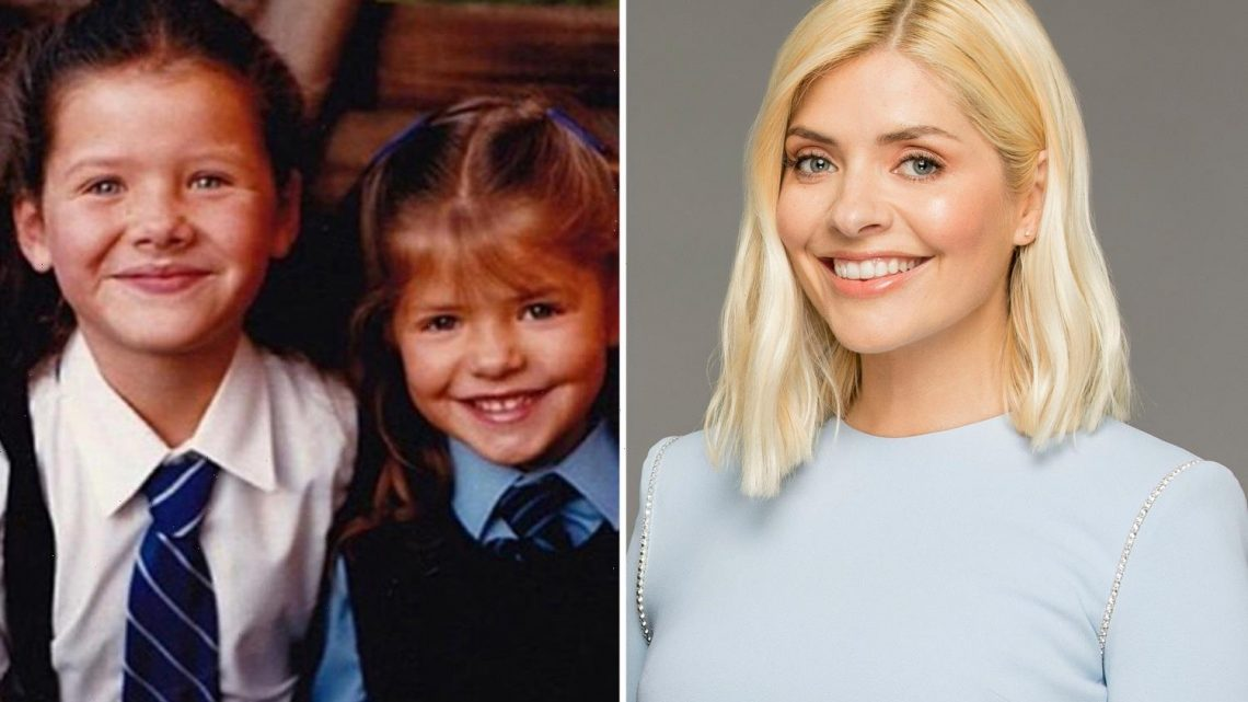 Holly Willoughby looks completely different in childhood snap without her trademark blonde hair