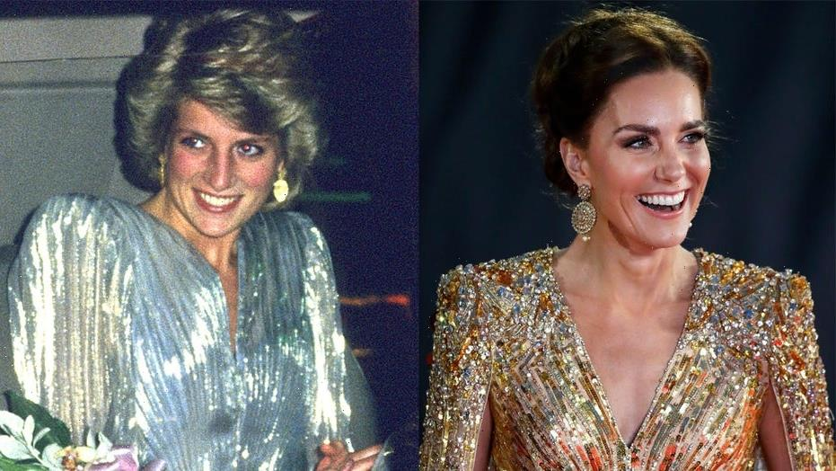 How Kate Middleton's 'No Time to Die' premiere dress paid homage to Princess Diana