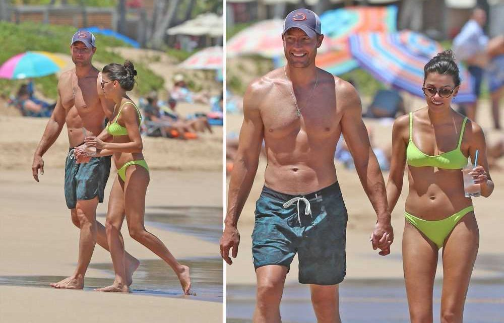 Justin Hartley and Sofia Pernas show off their beach bodies in Hawaii