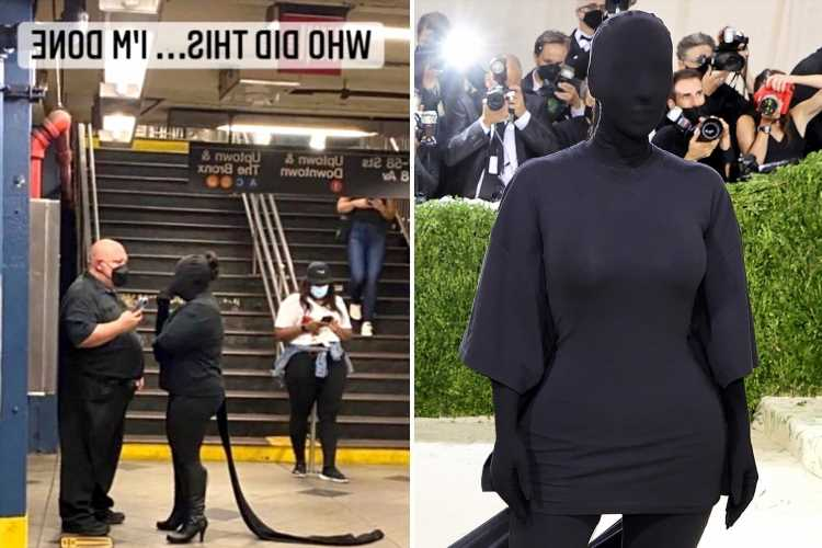 Kim Kardashian says she's 'DONE' with Met Gala memes as another fan pokes fun at star's bizarre dress at fashion event