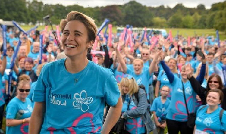 Line Of Duty star Vicky McClure joins Alzheimers Society memory walk