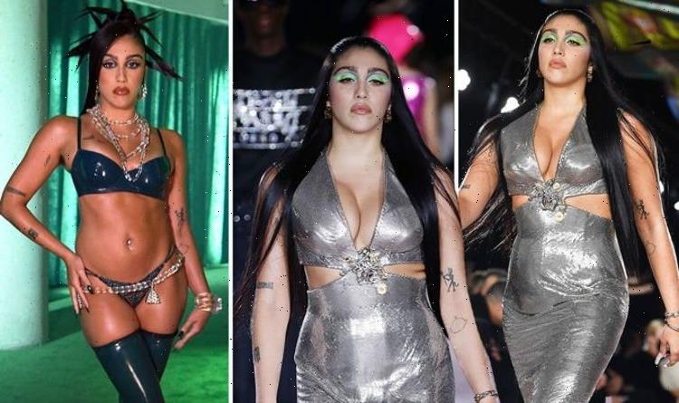 Madonnas daughter Lourdes Leon turns heads with VERY busty display in tight-fitted dress