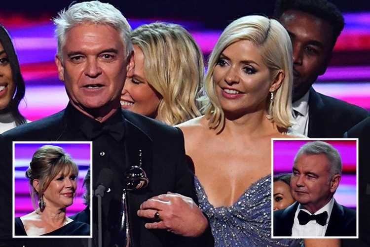 NTA fans furious Phillip Schofield didn't let Ruth and Eamonn speak as they all collect best daytime gong