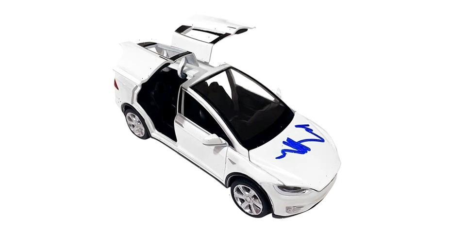 You Can Now Own an Elon Musk-Signed Tesla Model X Toy Car as an NFT