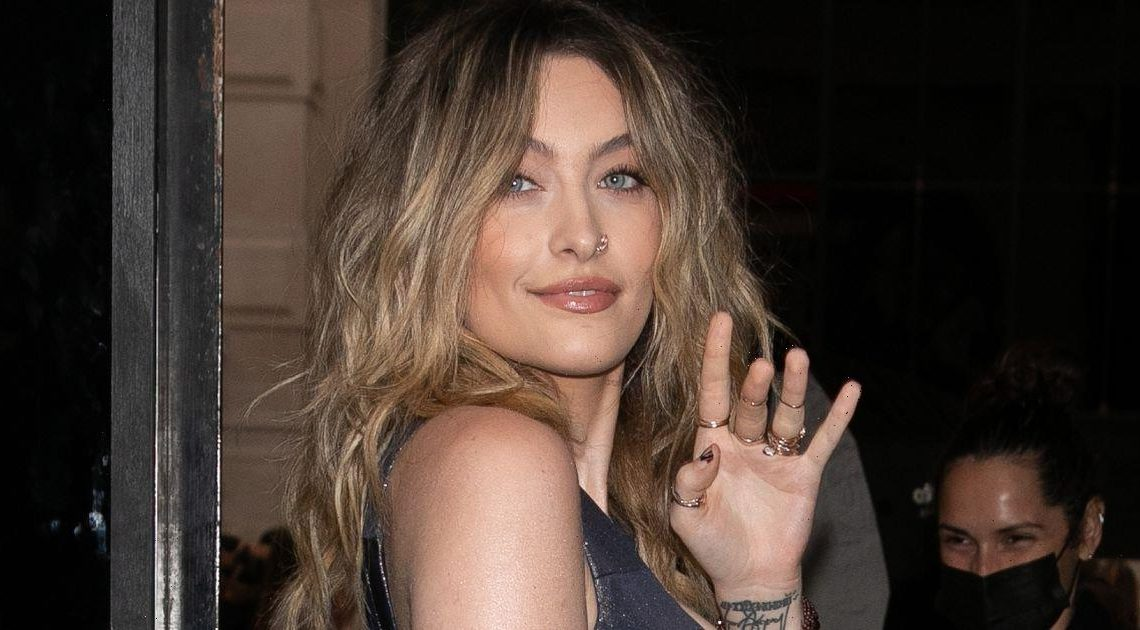 Paris Jackson marks Fashion Week in zip-up corset and completely sheer skirt