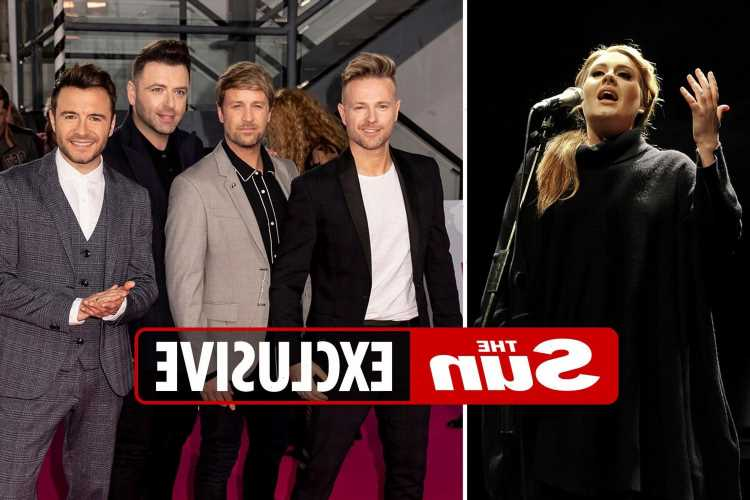 Westlife admit 'superstar' Adele is tough competition as they go head to head with new music